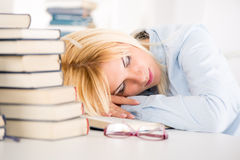 Tired student Royalty Free Stock Photos