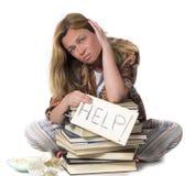 Tired student needs help Stock Photos
