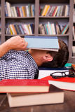 Tired student. Royalty Free Stock Photos