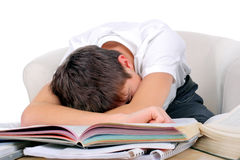 Tired Student sleep Royalty Free Stock Image