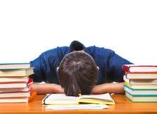 Tired Student sleeping Stock Photos