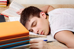 Tired Student Stock Image