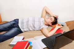 Tired Student Stock Photos