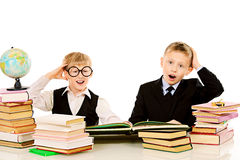 Tired students Royalty Free Stock Image