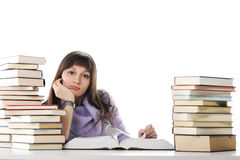 Tired of studies Stock Image