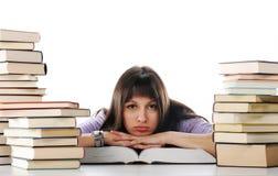 Tired of studies Stock Photo