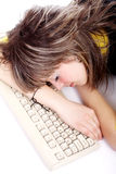 Tired of studing Stock Image