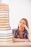 Tired of studying. Stock Photos