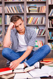 Tired of studying. Stock Image