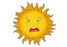 Tired Sun Cartoon Character Stock Photos