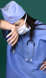 Tired Surgeon stock image