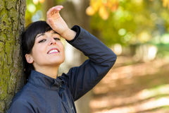 Tired and sweaty sport woman Royalty Free Stock Images