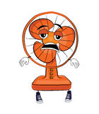Tired table fan cartoon Royalty Free Stock Image