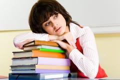 Tired teacher Stock Image
