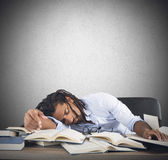 Tired teacher Royalty Free Stock Photography