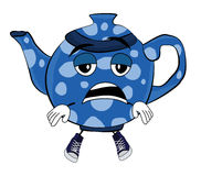 Tired Teapot cartoon Stock Photos