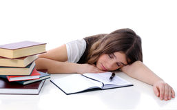 Fatigue study Royalty Free Stock Photo