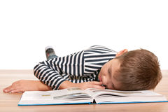 Tired to study Stock Photo
