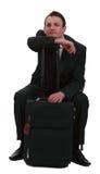 Tired traveler Stock Photography