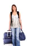 Tired traveller Stock Image