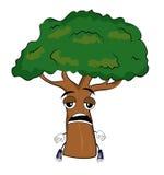 Tired tree cartoon Royalty Free Stock Photography