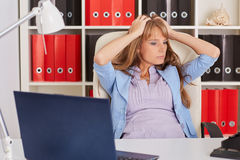 Tired unhappy business woman. Stock Photography