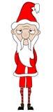 Tired Unhappy Santa Stock Photography