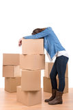 Tired of unpacking Stock Photos