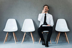 Tired of waiting. Stock Photos