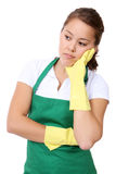 Tired Woman Maid Stock Photo