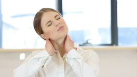 Tired Woman, Neck Pain. High quality Stock Photography