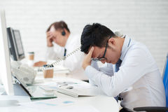 Tired of work Stock Photography