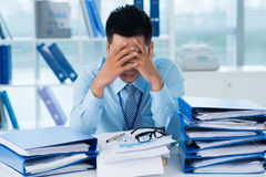 Tired from work Royalty Free Stock Photo