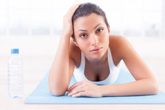 Tired after work out. Royalty Free Stock Photo