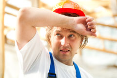 Tired worker Stock Photo