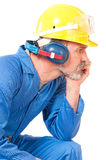 Tired worker Royalty Free Stock Photography