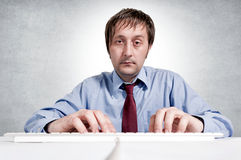 Tired worker Stock Photography