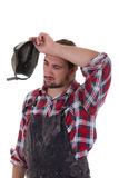 Tired worker Royalty Free Stock Photos