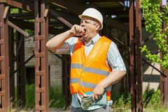 Tired worker yawning Stock Photos