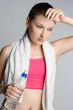 Tired Workout Woman. Tired fitness health workout woman Stock Photos