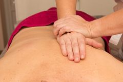 Therapeutic massage for the back Stock Photography