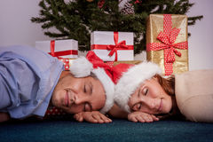 Tired xmas Stock Image