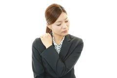 Tired young Asian woman Stock Photos