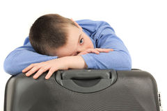 Tired young boy Stock Photography