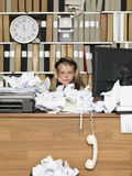 Tired Young Business Girl Royalty Free Stock Photos