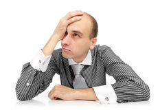 Tired young businessman Royalty Free Stock Images