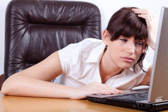 Tired young businesswoman Royalty Free Stock Photography