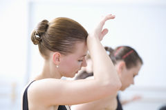 Tired Young Female Ballet Dancer Stock Photos