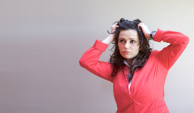 A tired young lady Royalty Free Stock Images