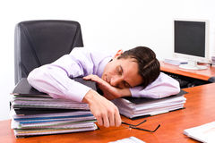 Tired young lawyer Royalty Free Stock Photography